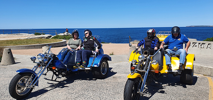 surprise birthday present of a trike tour. In Sydney Australia.