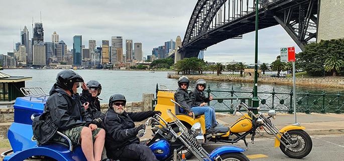 trike 3 bridges ride, Sydney