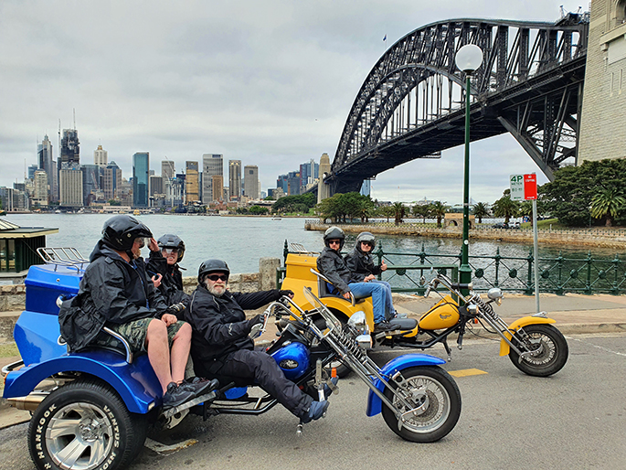 trike 3 bridges ride, Sydney