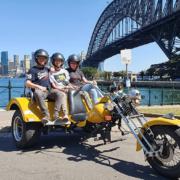 School holiday trike ride, Sydney