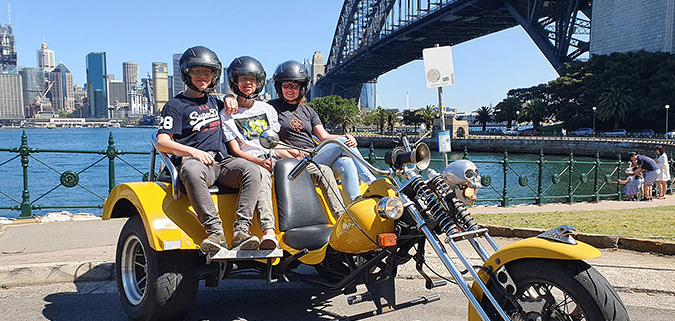 School holiday trike ride, Sydney