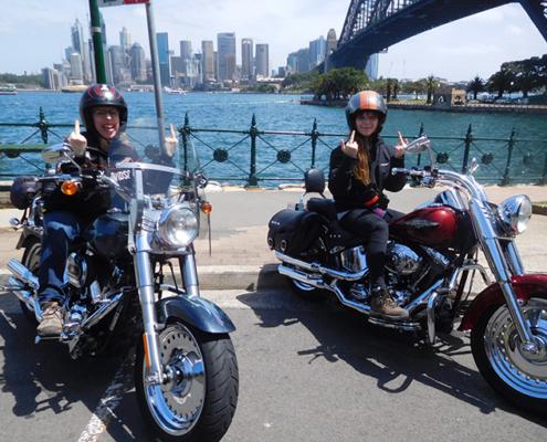 16th birthday Harley tour, Sydney Australia