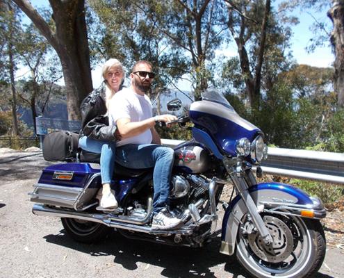 Blue Mountains birthday Harley tour