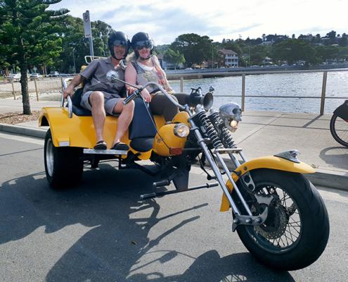 surprise 60th trike tour, Sydney Australia