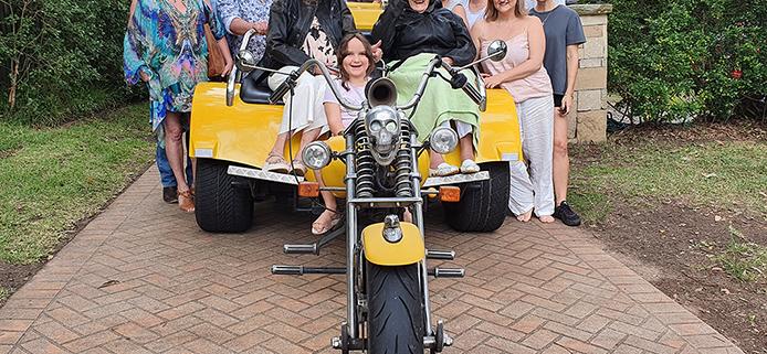 Surprise 85th birthday trike transfer, Sydney Australia