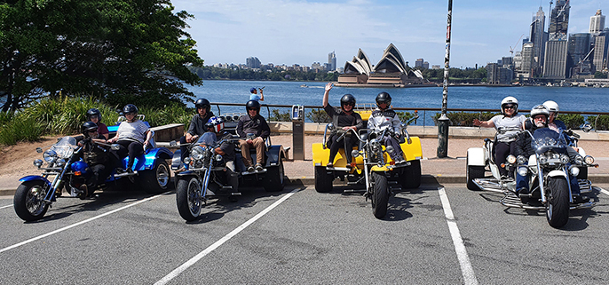 Trike tour for disability passengers, Sydney Australia