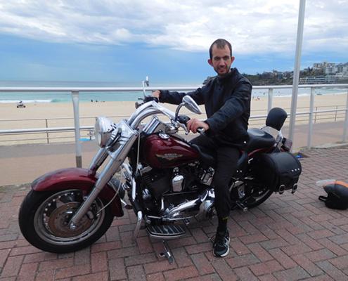 Eastern Panorama Harley ride, Sydney Australia