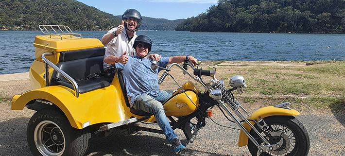 A surprise 60th beaches trike tour, Sydney Australia