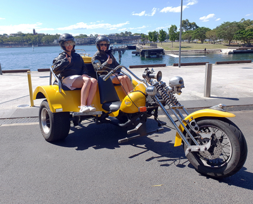 post lockdown trike tour, Sydney Australia