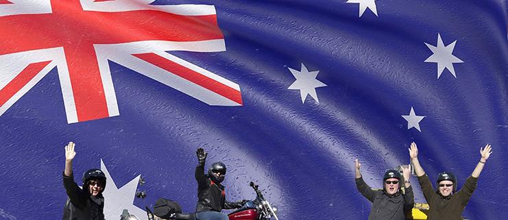 Harley and trike tours - Australia Day Celebrations, Sydney Australia