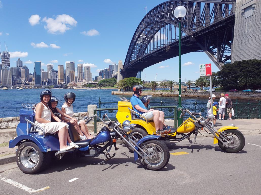 trike tour Christmas presents, Sydney Australia
