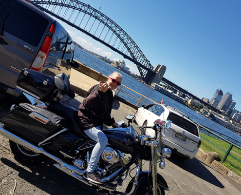 60 th surprise Harley tour. Sydney Australia