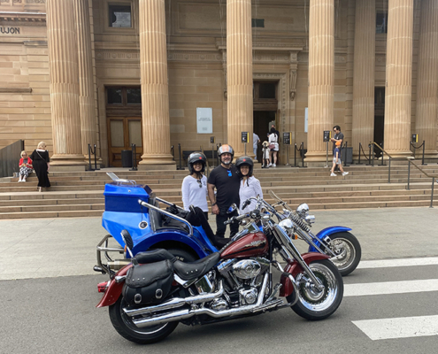 A Harley and trike tour, Sydney Australia