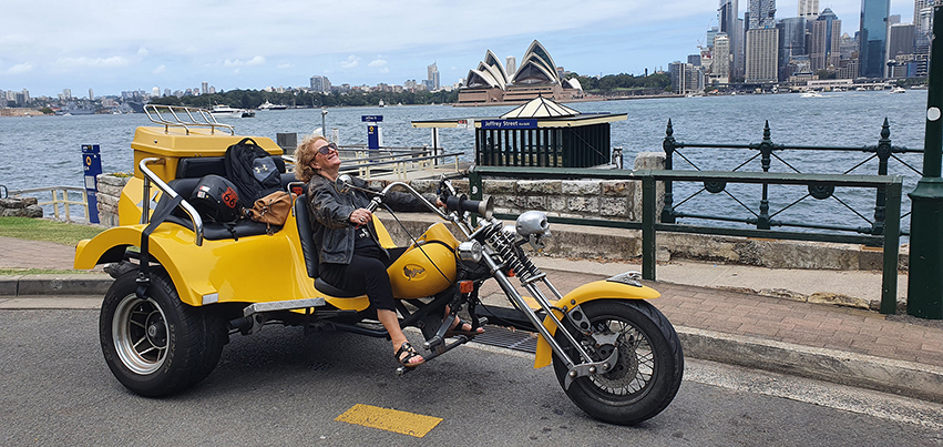 Harley surprise 60th trike transfer. Sydney Australia