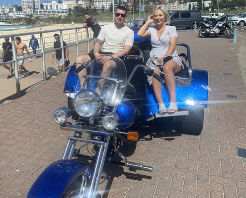 holiday trike tour surprise in Sydney, Australia