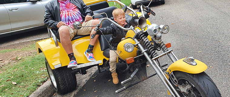 A 6year old birthday surprise. A trike tour around the Northern Beaches of Sydney Australia.