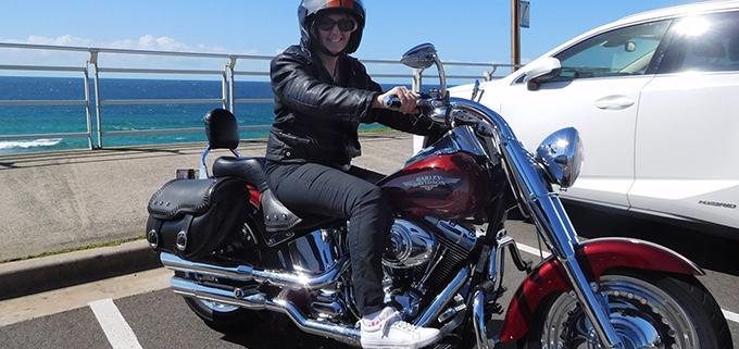 A birthday surprise Harley ride. Sydney Australia