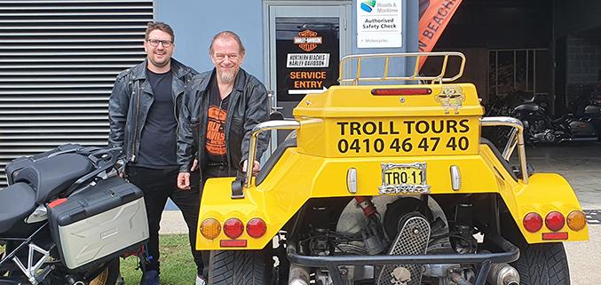 A trike tour to Harley shop, Sydney Australia