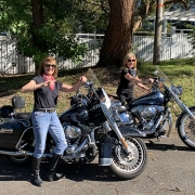 Harley tour birthday present. For their 60th birthday. The Harley tour took them along the Old Pacific Highway to Brokklyn. Then back to Berowra Waters for lunch.