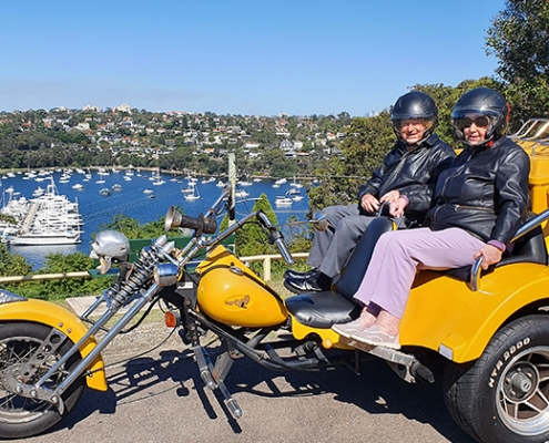 A christmas gift was a trike tour. They decided to do it on his 85th birthday. Northern Beaches, Sydney