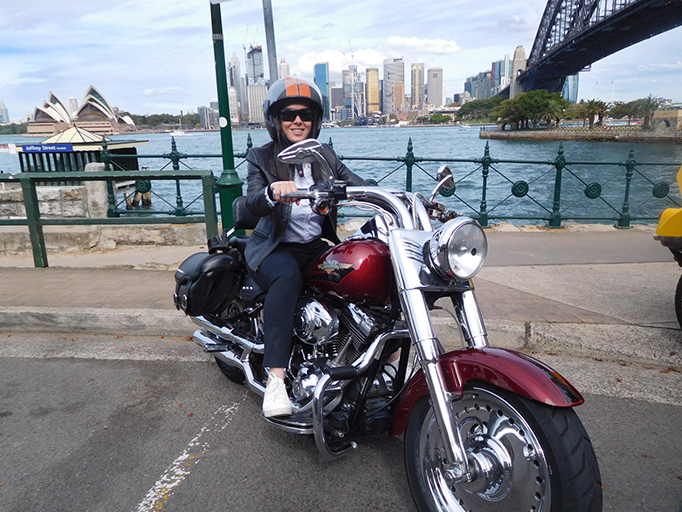 A Harley and trike ride for a birthday. They went on the 3 Bridges tour in Sydney Australia.