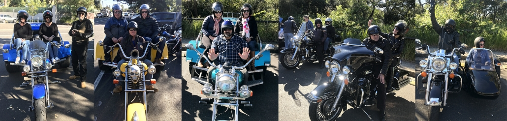 A Harley and trike transfer from the zoo to Manly Wharf. Sydney Australia