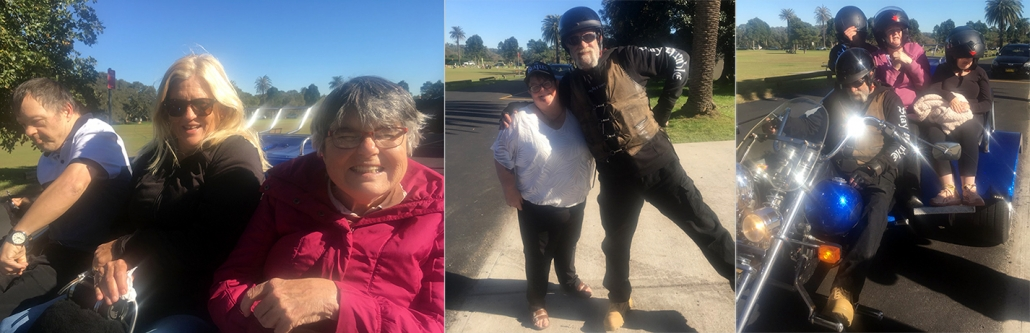 Mini disability trike rides. Centennial Park, Sydney.