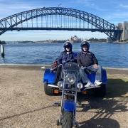 A trike tour over the Sydney Harbour Bridge.