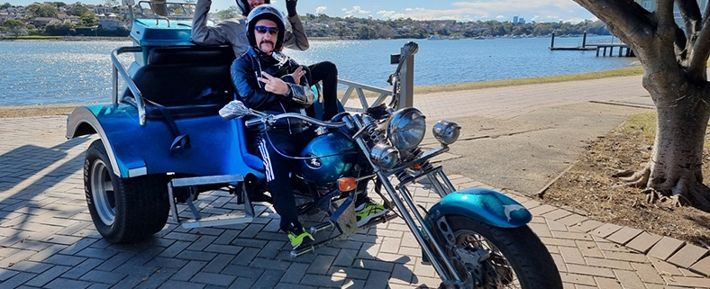 A trike tour for disabled passengers. Sydney Australia